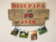Farm boy, picture frame collage, wooden decor, reclaimed wood, photo memory board, farmhouse decor, memory board, wooden decoration by CraftedSimplyInc on Etsy