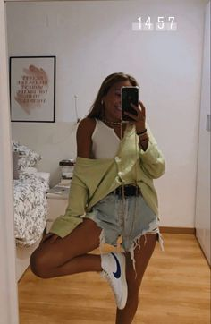 Cute Summer Outfits, Cute Casual Outfits, Spring Outfits, Teen Fashion Outfits, Look Fashion, Mode Ootd, Jugend Mode Outfits, Cooler Look, Looks Style