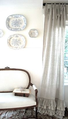 ruffled linen curtains
