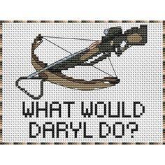 Another Walking Dead Themed cross stitch! Beaded Cross Stitch, Crochet Cross, Cross Stitch Embroidery, C2c Crochet, Diy Bordados, Disney Cross Stitch Patterns, Nerd Crafts, Plastic Canvas Patterns, Cross Stitching
