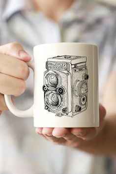 Rolleiflex Camera Drawing Mug