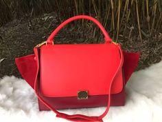 New Arrival 2016 Celine Bags Outlet-Celine 26cm Trapeze Top Handle Bag in Multi-color Calfskin Leather CS0331-CRRS