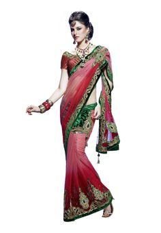 Women's #Ethnic Wear Pink #Saree