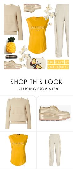 """""""You make my world spin"""" by alongcametwiggy ❤ liked on Polyvore featuring Delpozo, Prada, Balmain, Joseph and Franchi"""