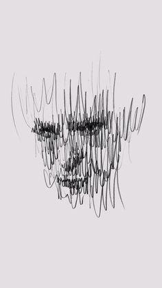 Dark Art Drawings, Pencil Art Drawings, Art Drawings Sketches, Unique Drawings, Stylo Art, Scribble Art, Charcoal Art, Arte Sketchbook, A Level Art