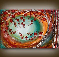 Large Painting Original Contemporary Art WALL ART by artgallerys, $298.00