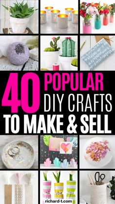 diy projects to sell extra cash 40 Easy amp; fun DIY crafts to make and sell that you need to try! If you are looking at making some extra cash, then make sure to try out these DIY crafts! Fun Craft, Recycled Crafts, Diy Crafts For Kids, Easy Crafts, Kids Diy, Decor Crafts, Craft Ideas, Money Making Crafts, Crafts To Make And Sell
