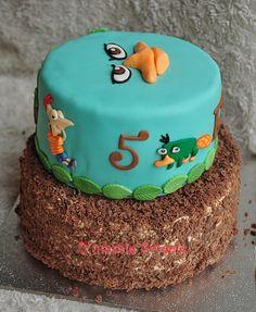 Fondant & slagroom chocolade taart