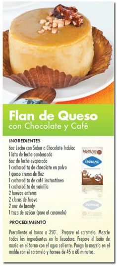 Flan de queso con chocolate y café
