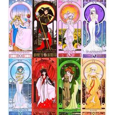 """Beautiful Sailor Moon Tarot Card Art by Sillabub429.DeviantArt.com i would definitely love a tarot deck like this!  What each Tarot Card Represents.…"" http://instagram.com/p/yLIeWlxlt_/"