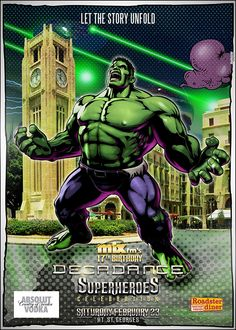 Decadance Superheroes Edition: The Hulk in Beirut  Poster Design by Kaleido