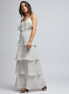 <br /><br />Model is and wears a size Petite Outfits, White Maxi Dresses, Sweatshirt Dress, Insta Makeup, Ruffles, Perfect Fit, Ivory, Cosmetics, Clothes