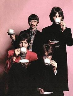 Richard Starkey, George Harrison, Paul McCartney, and John Lennon (Tea time with the Beatles)
