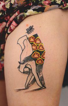"""Joanna Swirska Dzo Lama tattoo """"It takes two to tango. Bild Tattoos, Body Art Tattoos, New Tattoos, Tattoos For Guys, Tatoos, Pretty Tattoos, Beautiful Tattoos, Piercings, Aesthetic Tattoo"""