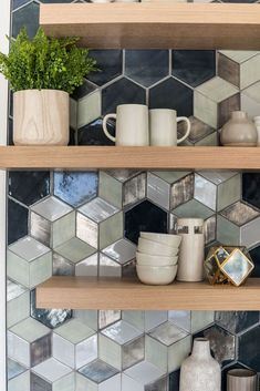 Mercury Mosaics has created larger-than-life spaces brought to life from your ideas. Browse our mosaic tile gallery to see our one-of-a-kind custom tile designs. Small Kitchen Redo, Funky Kitchen, Kitchen Tile, Kitchen Cabinetry, Kitchen Colors, Kitchen Design, Handmade Tiles, Tile Installation, Mosaic Tiles