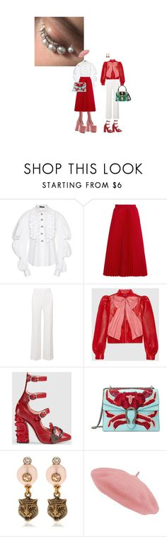 """unravel"" by world-princess ❤ liked on Polyvore featuring Dolce&Gabbana, Marc Jacobs, Balenciaga, Roland Mouret and Gucci"