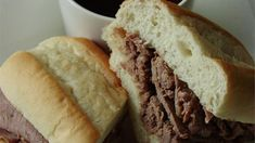 For an easy French dip sandwich, this slow cooker French dip recipe uses rump roast slowly simmered in beef broth, onion soup, and beer.