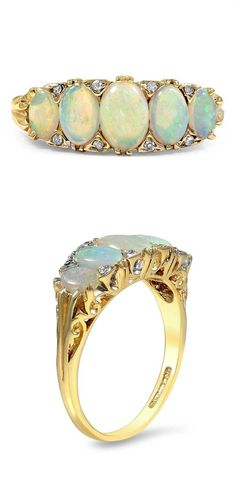 The Queenie Ring Opal Gems Jewelry, Jewlery, Art Nouveau Ring, Prioritize, Simple Jewelry, Opals, Mode Style, Sparkles, Turquoise Bracelet