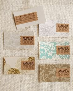 I just love finding cool layout ideas from business items.logos, business stationery, signage, ads, and--of course--business cards. Business Card Design, Creative Business, Lettering, Name Card Design, Bussiness Card, Calling Cards, Design Graphique, Grafik Design, Name Cards