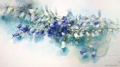 Watercolor by Yuko Nagayama Watercolor Landscape, Watercolour Painting, Watercolor Flowers, Watercolors, Art Floral, Scale Art, Art Oil, Flower Art, Art Photography