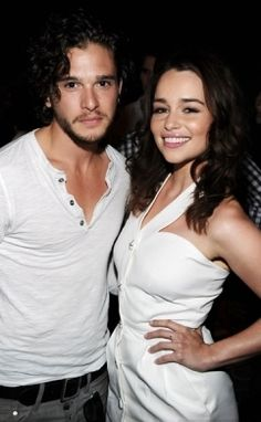 Game of Thrones with Kit Harington and Emilia Clarke