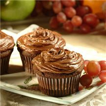 Rich Chocolate Cupcakes - Super-creamy, super-rich, ultra-decadent describes these luscious cupcakes with their milk chocolate buttercream frosting.