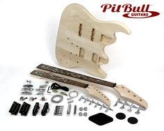Complete Electric Guitar Kit - everything you need to make your own Electric Guitar. Guitar Kits, Bass, Pitbulls, Tools, Music, Guitars, Musica, Instruments, Musik