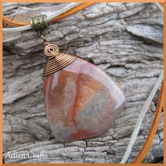 This is a stunning piece of Brown Agate gemstone in this fabulous mix of Autumn colours, it really is a beautiful stone. Conkers, Mum Birthday, Autumn Colours, Agate Gemstone, Wire Wrapping, Mother Day Gifts, Beading, October, Jewelry Making
