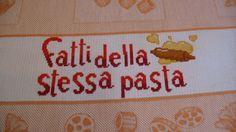 """Particolare asciuga piatti San Valentino dall'Album di Barbara69: """"Fatti della stessa pasta"""""""