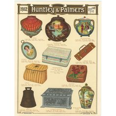 Huntley & Palmers Tins for Christmas 1912
