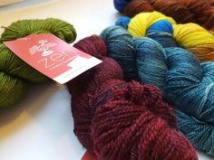 Zen Yarn Garden Serenity Silk + hand dyed in Sarnia Ontario.