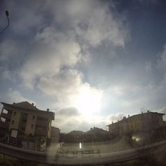 GoPro Day 7: Driver picks the music, shotgun takes nonsense pictures #supernatural #cute #30daysofgopro #nofilter #gopro @gopro #light #december #noediting #photography #photo #passion #sun #clouds #100posts