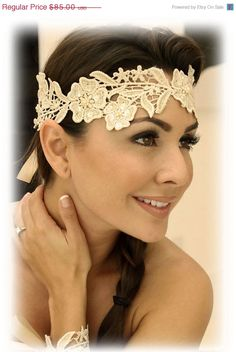 Bridal headband Vintage inspired Headband  by BijouxandCouture, $59.50