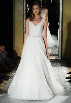 Oleg Cassini Wedding Dresses 2015 Showcases Detailed Floral Appliques for Fall | TheKnot.com