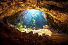 Temple Inside A Cave (Location: Phraya Nakhon Cave, Thailand)