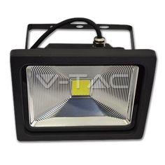 25,40€ 50W Proiettore LED Riflettore Classicoo Bianco caldo corpo Grigio  SKU: 5324 | VT: VT-4750