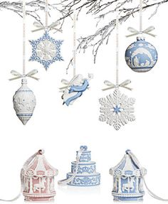 Wedgwood Christmas Ornament Collection | macys.com