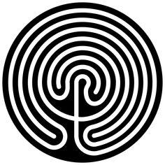Cretan-labyrinth-circular-disc - Labyrinthe — Wikipédia