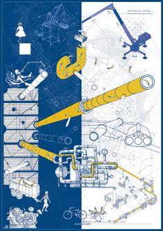 Correcciones Tipológicas: conoce los 12 proyectos del workshop de Juan Herreros en Chile,E1 – Campus Creativo - Universidad Andrés Bello / Lámina 02. Image Cortesía de Facultad de Arquitectura USS