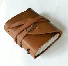 Homemade leather journal