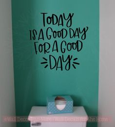 Today Is A Good Day Vinyl Lettering Stickers Inspirational Wall Quotes - wallquotes Wall Stickers Quotes, Vinyl Wall Quotes, Wall Decal Sticker, Vinyl Wall Decals, Quote Wall, Art Quotes, Classroom Wall Quotes, Classroom Walls, Future Classroom