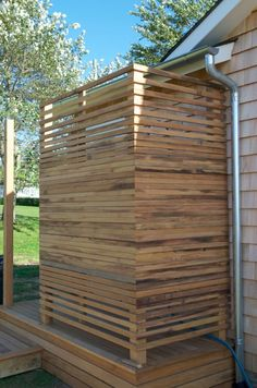 outdoor shower enclousure ideas | outdoor shower enclosure by Searain #outdoorshowerideas