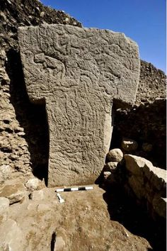 Pillar at Gobekli Tepe. From fall of 2013 excavation.