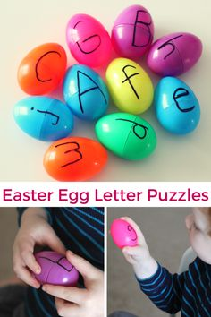 Easter Egg Letter Puzzles. This alphabet activity develops critical thinking skills and fine motor skills.