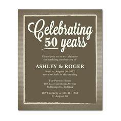 Light Stripes Wedding Anniversary Invitations, Anniversary Parties, 50th Anniversary, I Party, Cry