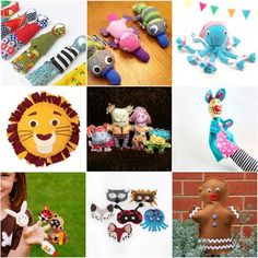 15 Fast, Fun & Easy No-Sew Toys and Animals - Who can resist these cuddly creatures! | MollyMoo for @Spoonful