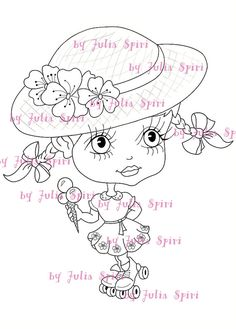 Instant download digital digi stamps princess stamps for Selling coloring pages on etsy