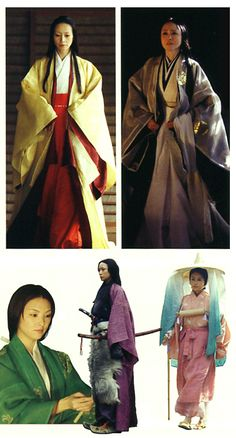 """Japanese miniseries """"Taira no Kiyomori"""".   early from last years of Heian era in the Kamakura era rady's costume."""