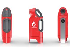 Adding a definitive edge to the regular fire extinguisher, we have here the Fire Hammer, a life-protecting tool. The shape of this extinguisher takes into account