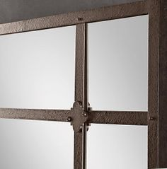 Factory Panel Rustic Brown Mirror
